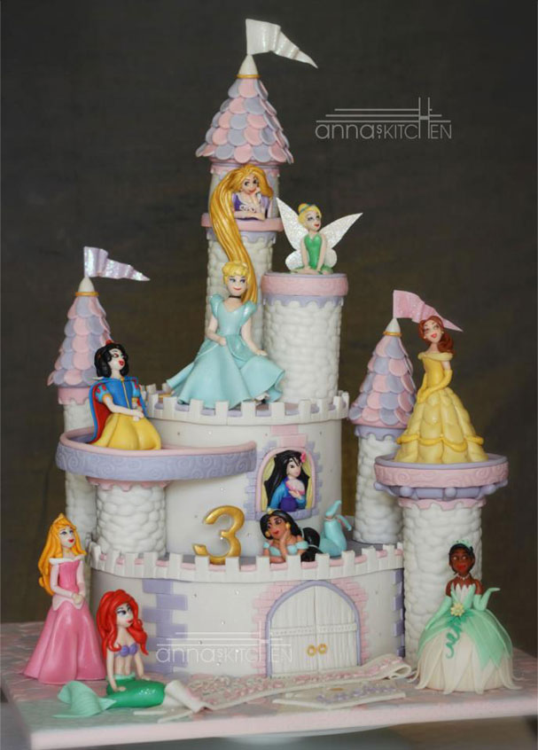 Cake Canvas Anna's themed cake Cochin Disney Princes