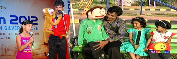 Birthday party organisers Cochin - Partytime - ventriloquist
