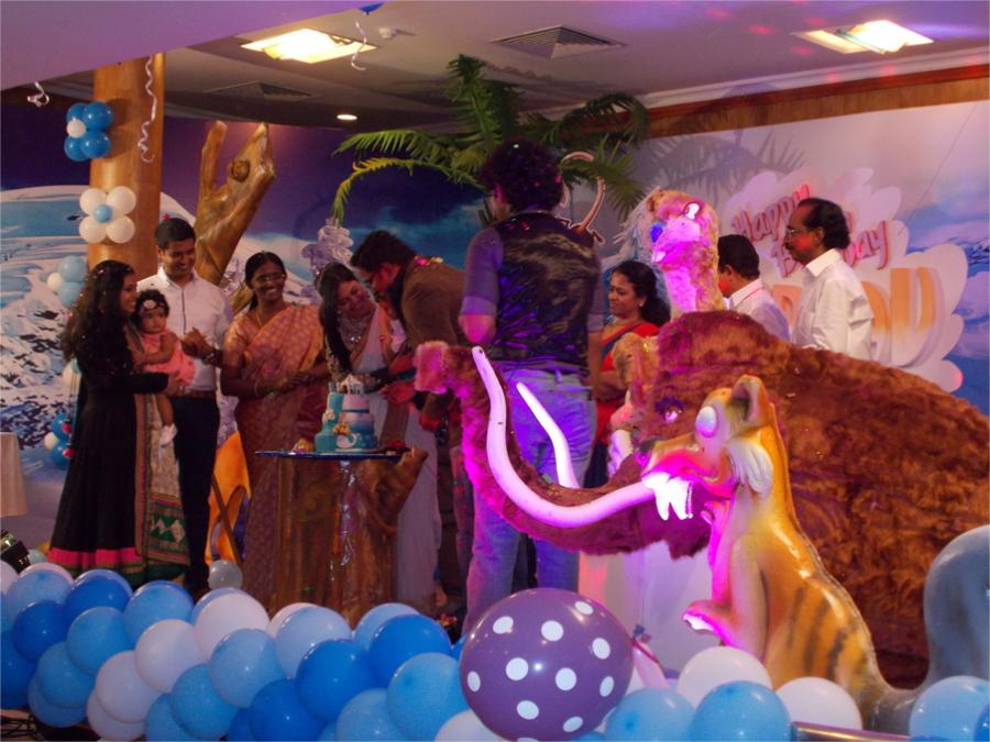 Ice age themed birthday party kochi Cochin