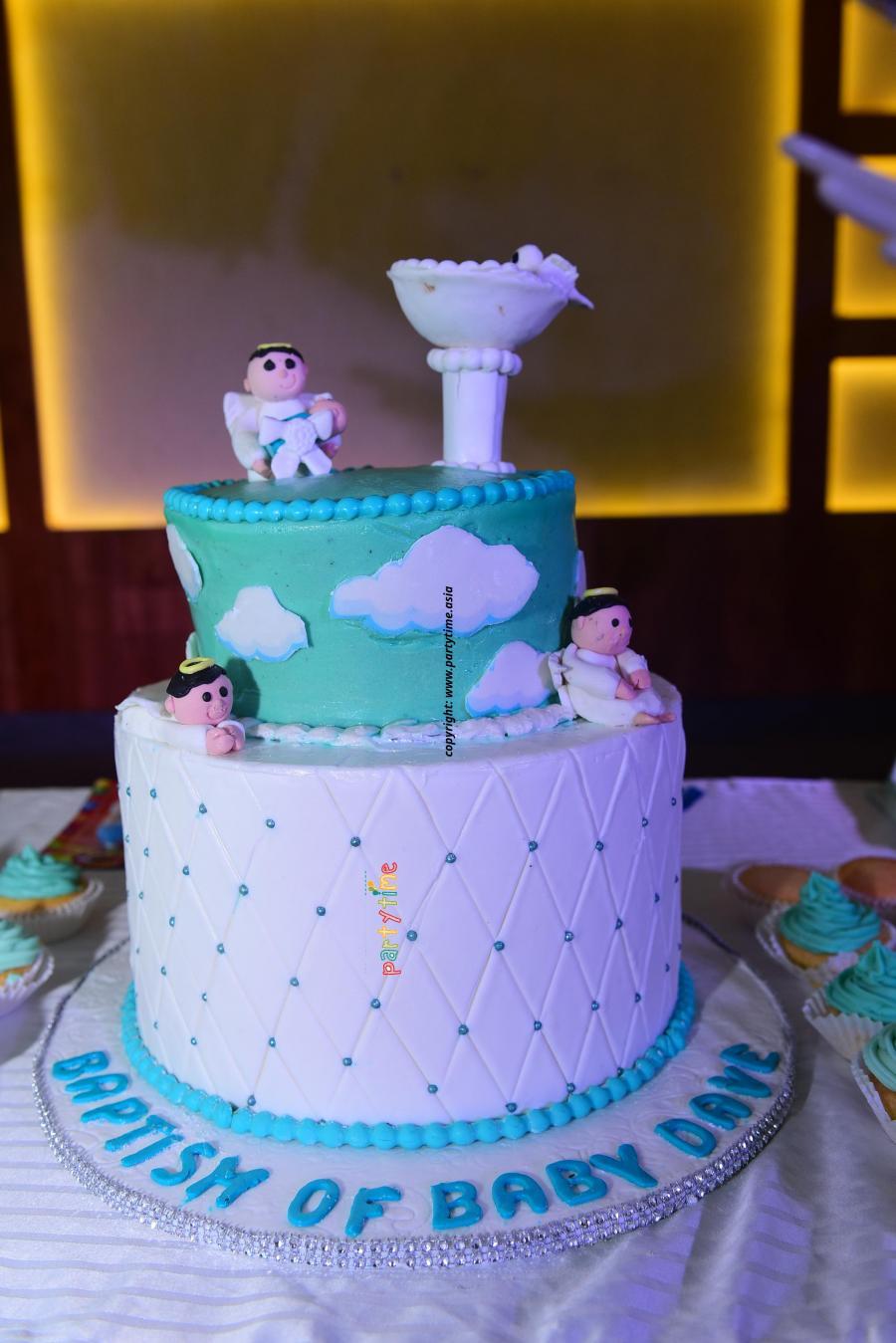 Baptism Theme Cake and Decoration Kollam Kerala - Partytime With Aladin