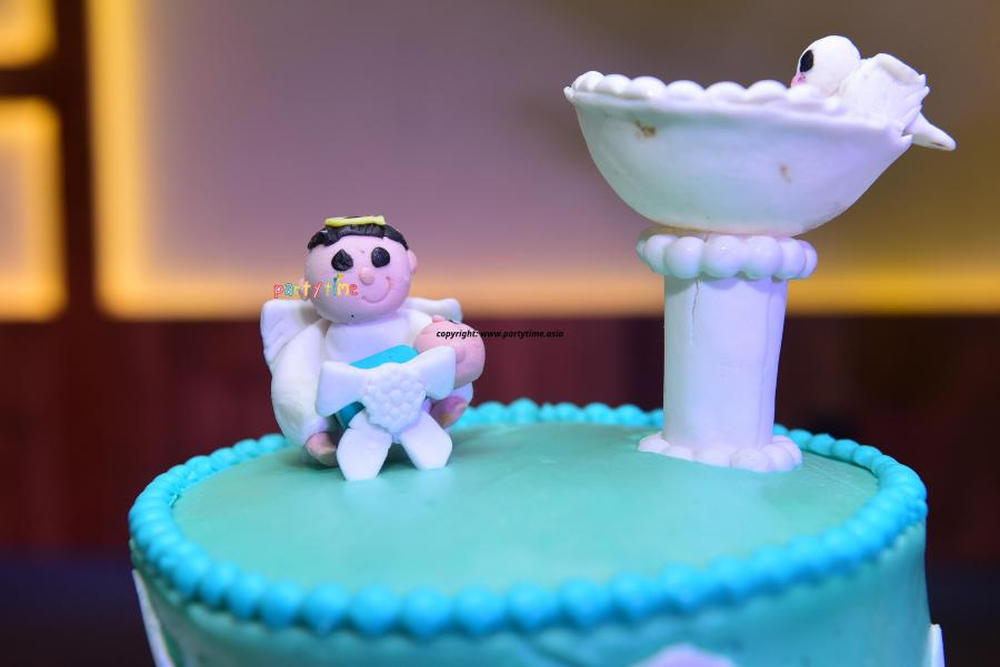 Baptism Theme Cake and Decoration at Sunoro Church, Kochi, Kerala - Partytime With Aladin